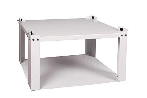 Waschmaschinen - Untergestell BxTxH: 60x50x30cm, 150 kg weiß, offen Marke: Szagato, Made in Germany (Sockel Podest Erhöhung für Waschmaschine + Trockner)