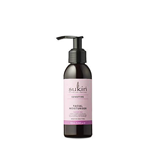 Sukin Sensitive sanfte Gesichtscreme für das Gesicht, 125ml, versorgt empfindliche Haut mit Feuchtigkeit, mit Sheabutter, Jojoba, Kamille, Aloe vera und Gurke, für Gesicht,...