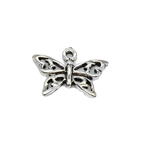 10 conectores de mariposa de plata de ley 925, conectores de mariposa hueca, conectores de pulsera