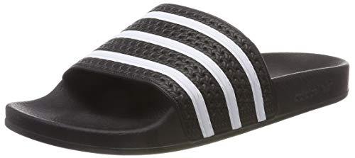 adidas Originals Badelatschen Adilette 280647 Schwarz Weiß, Schuhgröße:47