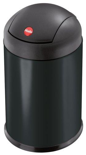 Hailo Sienna Swing S, Mülleimer aus Stahlblech, 4 Liter, breiter Schwingdeckel, Müllbeutel-Klemmung, großer Öffnungswinkel, made in Germany, 0704-219