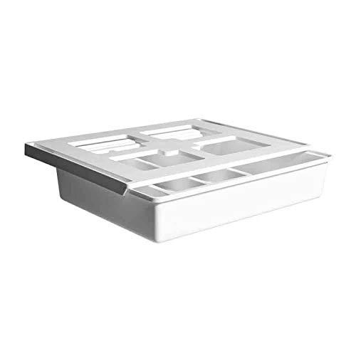 LLSPHYDY Mesa oculta debajo de la pasta de plástico organizador de escritorio de notas pluma papelería caja de almacenamiento caja de escritorio cajón