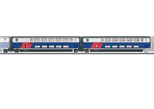 Märklin- Ergänzungswagen-Set 1 Zum Carro complementario 1 para TGV Euroduplex, Color carbón (43423)