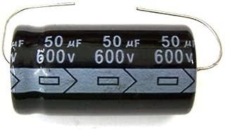 MIEC Qty 2 50UF 600V 105C Axial Electrolytic Capacitors