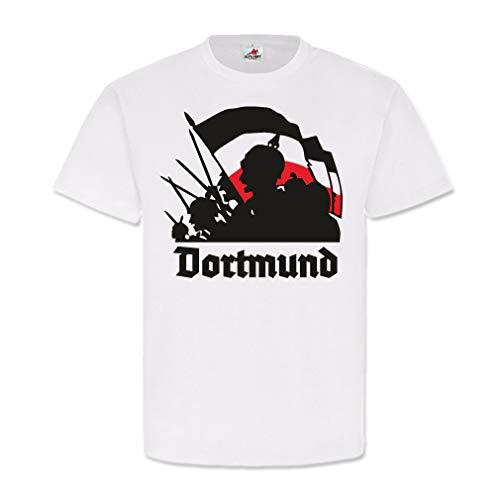 Copytec Dortmund WK Wilhelm Pickelhaube Zwart Wit Rood vlag Duitsland #25645