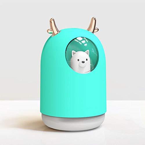 WEIV Humidificador de Aire EssentialOil Difusor Portátil Mini Lindo Colorido Aroma Aroma Terapia Luz Portátil Mini Linda Aroma Colorida Terapia Luz (Color : Blue)