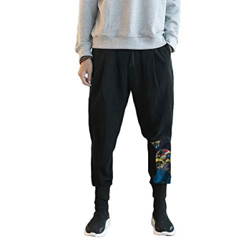 Katenyl Pantalones de chándal para Hombre, Costura Retro, Estampado de Personalidad, Moda, Ropa de Calle cónica, Tendencia, Pantalones Casuales, Todos los tamaños de Cintura XL