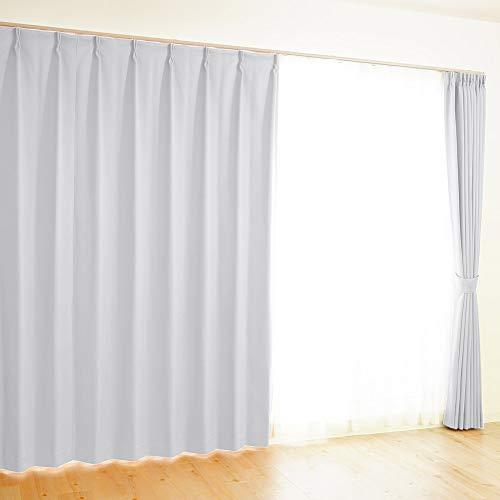 【全41カラー×220サイズ】 オーダーカーテン 1級遮光 防炎 均一価格 ポイフル ホワイト 幅150×丈90cm 1枚