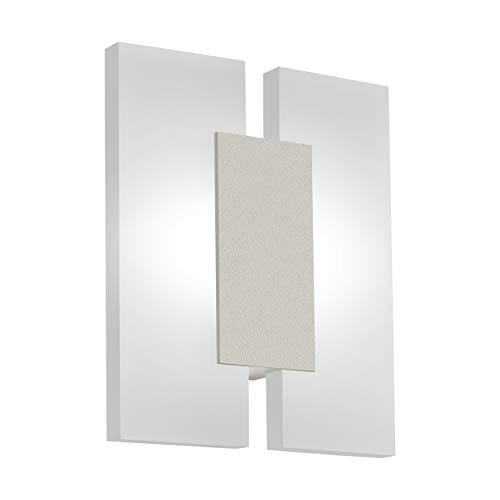 EGLO 96043 A+, Wand-/Deckenleuchte, Aluminium, Integriert, nickel-matt, satiniert, 17 x 5.5 x 20 cm