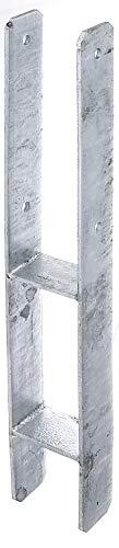 GAH-Alberts 213817 H-Pfostenträger, feuerverzinkt, Gesamthöhe: 600 mm, Materialstärke: 5 mm, lichte Breite: 81 mm