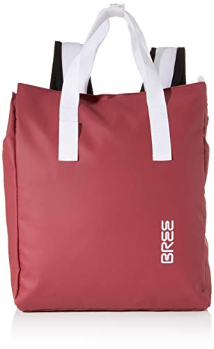 BREE Unisex-Erwachsene Punch 732, Backpack W19 Rucksack, Rot (Rhododendron), 12x38x32 cm