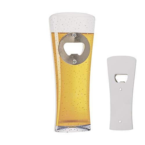 ootb Abrebotellas en Forma de Jarra de Cerveza - Imán de Nevera - Abrebotellas magnético, Regalo Inusual y Divertido
