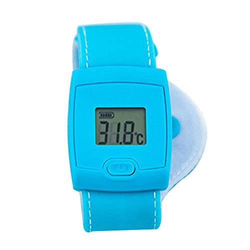 BOLANA - Termómetro Inteligente con Bluetooth para el Cuerpo y la Fiebre del bebé en Tiempo Real, con Pantalla LCD, Silicona, Azul, 1 Unidad