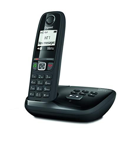 Gigaset AS470A Solo - Téléphone Fixe sans fil - Répondeur - 1 Combiné - Noir