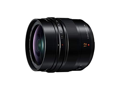 Panasonic LEICA DG SUMMILUX H-X012 - Objetivo Focal fija para cámaras de montura M4/3 (Focal 12 mm, F1.4, tamaño filtro 62 mm, lentes asféricas), negro