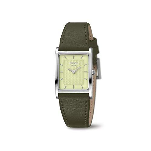 Boccia Damen Analog Quarz Uhr mit Leder Armband 3294-02