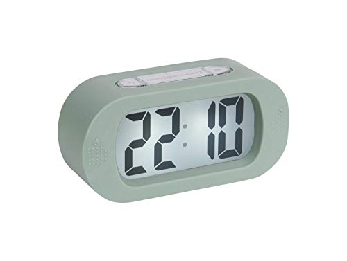 Karlsson - Uhr, Wecker Gummy - Silikon - grün - H7 x B14 x T5 cm