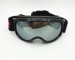 Stylish Glasses New Ski goggles anti-fog and sand-proof large spherical glasses for men women climbing snow goggles riding Clothing Accessories (Color : Clear)