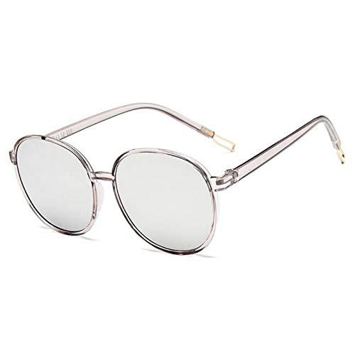 ZZOW Gafas De Sol Redondas De Moda con Lentes Transparentes De Color Caramelo para Mujer, Gafas De Sol De Marca De Diseñador, Gafas De Sol para Mujer, Gafas De Sol Uv400