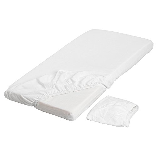 IKEA Len 28'x52' Fitted 100% Cotton Crib Sheets, White - Package Quantity: 2 Sheets