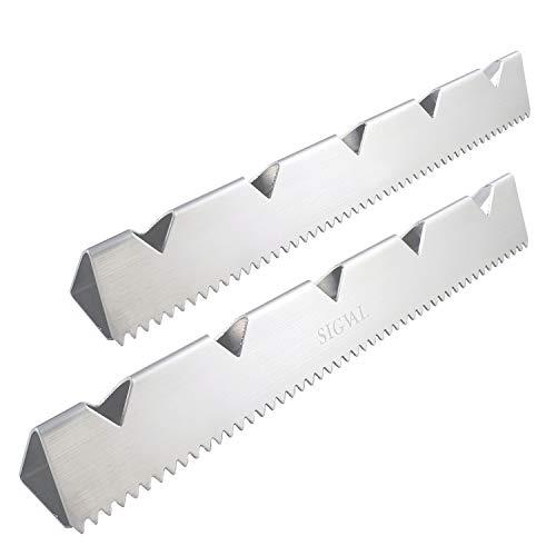SIGVAL Shish Kabob Rack Stand - 3 Racks in One, Stainless Steel, Universal Kabob Skewer Rack