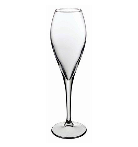 Pasabahce 440110 – champagne champagne schuim wijn glas kelk Monte Carlo, 19,5 cl (195 ml), met eiken bij 0,1 l, vaatwasmachinebestendig, 6 stuks
