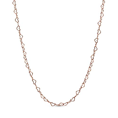 Pandora Jewelry Joined Hearts Pandora Rose Necklace, 23.6'