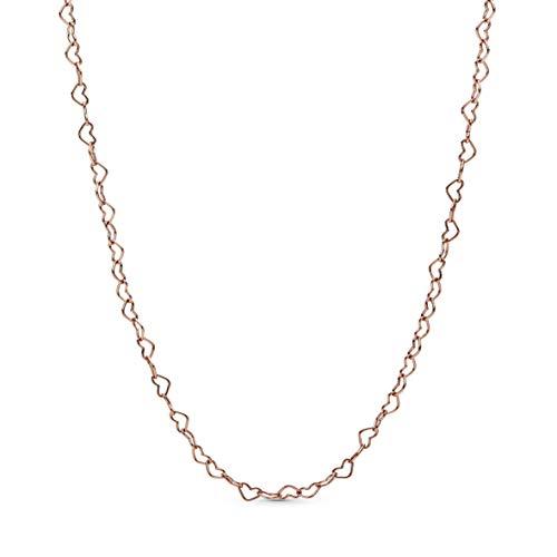 Pandora Jewelry Joined Hearts Pandora Rose Necklace, 23.6