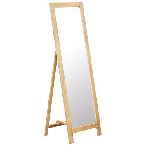 vidaXL Eiche Massiv Standspiegel Ankleidespiegel Ganzkörperspiegel Spiegel