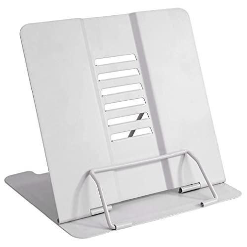 Prenota Stand Cucina Ricetta Reading Holder Regolabile Metal Tablets Musica BookRest Stoccaggio domestico bianco