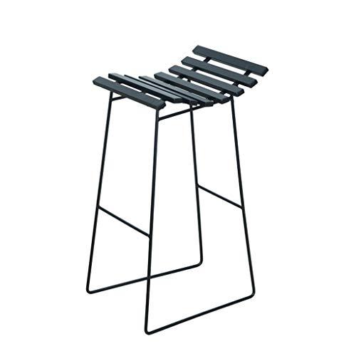 Generic Taburete de bar de hierro forjado, moderno estilo nórdico, para tiempo libre, bar, café, té, tienda, mesa y sillas LD0108 (color negro)