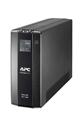 APC by Schneider Electric Back UPS PRO BR1300MI Gruppo di Continuità UPS, 1300VA, 8 Uscite IEC, Interfaccia LCD, Protezione Linea Dati da 1 GB