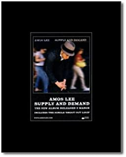 Music Ad World AMOS LEE - Supply and Demand Mini Poster - 13.5x10cm