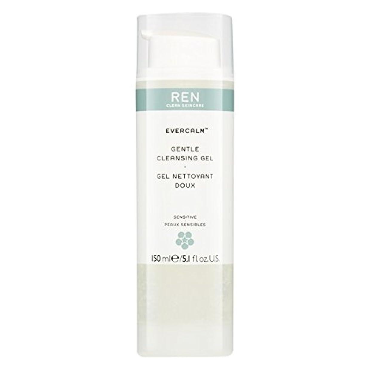 普通の厳しい名前でRen Evercalm優しいクレンジングジェル、150ミリリットル (REN) (x6) - REN Evercalm Gentle Cleansing Gel, 150ml (Pack of 6) [並行輸入品]