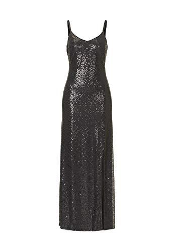 Vera Mont Abendrobe Hypnotizing Heat Abend-Garderobe Bodenlanges Gala-Kleid für Damen Abend-Kleid Schwarz, Größe:36