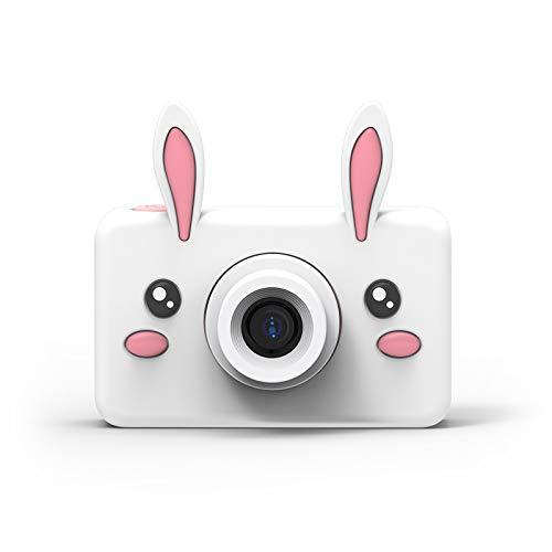 BANGSUN 1 x Mini-Kinderkamera, Kinder-Selfie-Kamera, 2400 W Pixel, Cartoon-Schutzhülle mit lustigen Effekten, für Spiele, tragbar