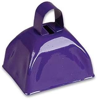 3-inch Purple Metal Cow Bell (Bulk Pack of 12 Bells)