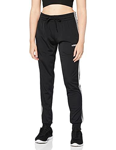 adidas Damen Essentials Tricot Trainingshose, Black/White, M