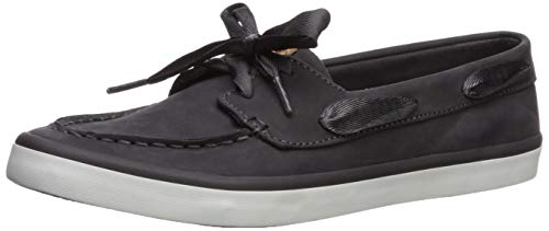 Sperry Womens Sailor Boat Leather Sneaker, Charcoal, 7.5
