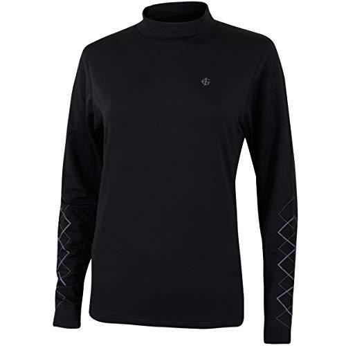 Island Green Golf IGLBASE1743 Femmes Sport Répulsif Eau Compression Manches Longues Couche de Base T-Shirt, Noir, Taille 16