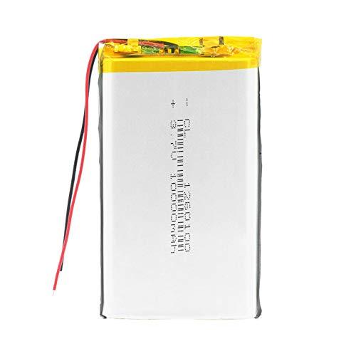 RFGTYH 1260100 3,7 V 10000 mAh batería de Litio Li-Po baterías Recargables reemplazo con PCB para Tableta DVD GPS Dispositivo médico