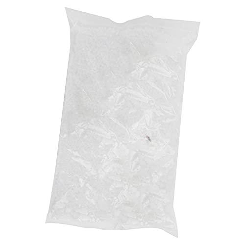 Cuentas espaciadoras de vidrio, cuentas de vidrio de 450 g, diseño esmerilado, 2 mm, redondas para la fabricación de joyas, para la fabricación de pendientes, collares y pulseras(Color blanco 16)