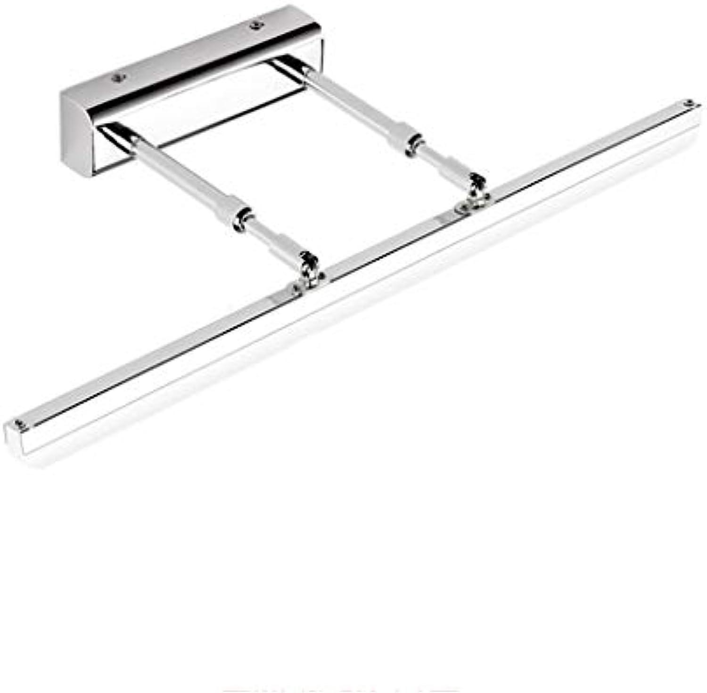 LCTCJD Bad Wandleuchte Moderne LED Badezimmerspiegelleuchte IP44 Schminkspiegel Frontbeleuchtung Bad über Spiegellampe Skalierbares Badzubehr (Farbe   Weies Licht, gre   50CM)