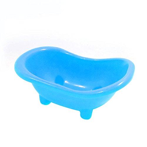 UEETEK Haustier Badewanne Badezimmer Kleintier Mäuse Badewanne Bad Becken für Ratte Hamster (blau)