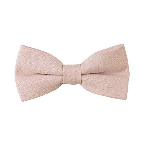 AUSCUFFLINKS Herren Erröten beige fliege leinen krawatten | hochzeitsbögen für trauzeugen (fliege, erröten beige)