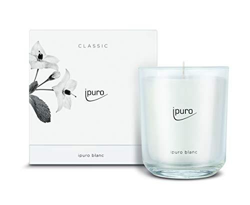 ipuro Classic Duftkerze blanc - Raumduft mit frischer und reiner Wirkung (Sommerregen) - Kerze mit hochwertigen Inhaltsstoffen 270g - Perfekt als Geschenk