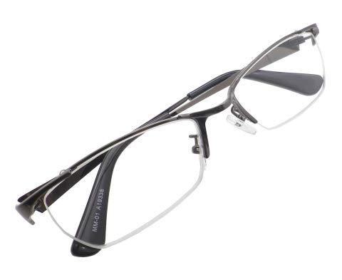 かっこいい 老眼鏡 シニアグラス リーディンググラス メンズ おしゃれ スタイリッシュ メタル ナイロール ちょい悪 MM-01-1.0