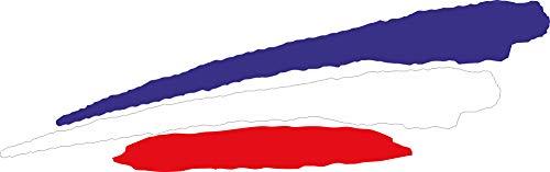 INDIGOS UG - Pegatina - para Coche - JDM - Die Cut - Coche - Bandera Francia - Francia - 3 Rayas - 200x51 mm - para Ventana Trasera Barco Coche Tuning camión