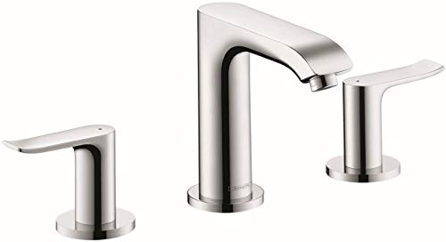 hansgrohe Metris Modern Upgrade Easy Install 2-Handle 1 5-inch Tall Bathroom Sink Faucet in Chrome, 31083001