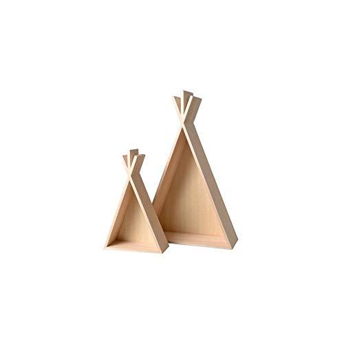 Artemio 2 estantes de Madera Tipi - 45 y 26 cm